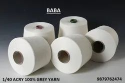 40/1 ACRY 100% GREY YARN- BRAND : BABA