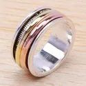New Fashion Jewelry 925 Sterling Silver And Brass Ring SJWR-16