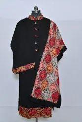 Ladies woolen kurti pallzao stole set