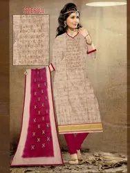 Work Multicolor Dress material Piece Set, Size: Free