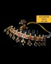 200 Kolhapuri Necklace Set