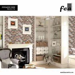 Porcelain Tile Matt Natural Stone Tiles - Elevation Tiles, For Outdoor, Thickness: 10MM