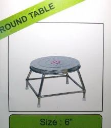 Standard Silver Stainless Steel Round Table, For Anywhere, Size: Multi