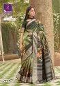 Shangrila Nitara Digital Original Digital Prints Silk Weaving Saree Catalog