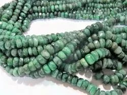 16 Strand Emerald Faceted Rondelle 3mm To 5mm Stone Beads