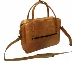 Slim Leather Laptop Shoulder Bag