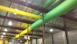 Air World Round, Oval Fabric AC Duct, For Industrial