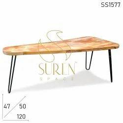 Suren Space Dimensions: 119 X 50 X 47 Cm Vintage Dining Table
