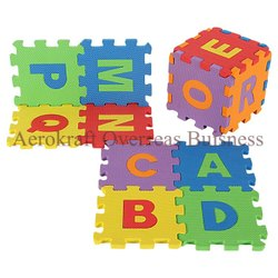 Interlocking Puzzle Foam 36 Pieces Big Tiles Mat with Alphabets and Numbers for Kids