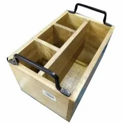 Wooden Serving Basket, Rectangle, Size: 14 X 5 (w X H) Inch