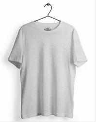 Plain Boys Mens Grey Round Neck T Shirt