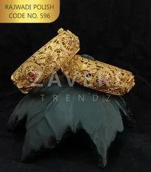 596 Rajwadi Polish Bangles