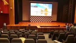Glossy Auditorium stage flooring, Size/Dimension: 21mm Thickness, Thickness: Total System 85 Mm Thickness