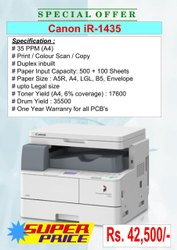 Canon iR 1435 Legal/ LGL Size Photocopier