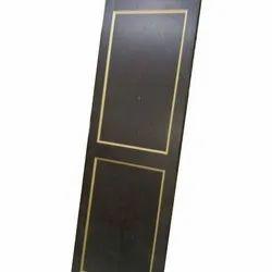 Polished PVC Brown Bathroom Door, Design/Pattern: Plain