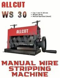 Standard ALLCUT MANUAL WIRE STRIPPING MACHINE WS 30M, Model Name/Number: ALLCUTWS30M, Capacity: 1 Mm To 30 Mm