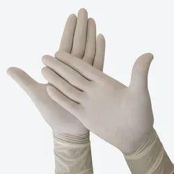 Non-Powdered White Rubber Hand Gloves