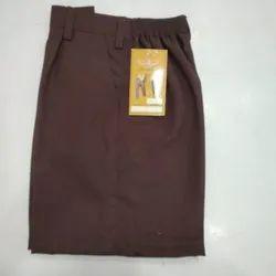 Brown Plain Boys Cotton School Uniform Half Pant