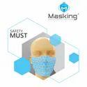 Masking Baby Blue Reusable 3 Layered Face Mask
