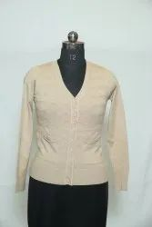 A-110 Woolen Cardigan With Pockets