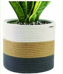 Jute and Cotton Adjustable Braided Baskets, 400 Grams To 1000 Grams, Size: 5x5 Inches To 12x12 Inches