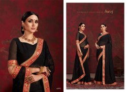 Black Designer Chiffon Saree