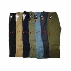Plain Mens Cotton Cargo Pants