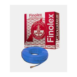 0.75 Sq Mm Finolex Flame Retardant PVC Insulated Industrial Blue Cable