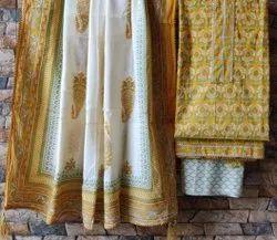 Pure Cotton Suit Piece Handblock Print