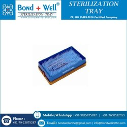 Medium Plastic Sterilization  Tray With silicon mat