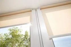 Beige Synthetic Fabric Window Roller Blind