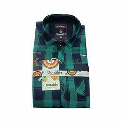 Cotton Regular Wear Kids Check Shirt