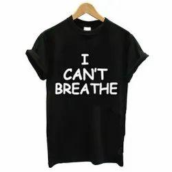 Ladies Black Half Sleeve T-Shirt