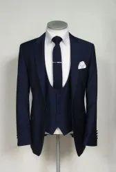 Wedding Blue Mens 3 Piece Suit