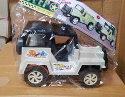 Battery White Jolly- Jeep Toy, For School/Play School