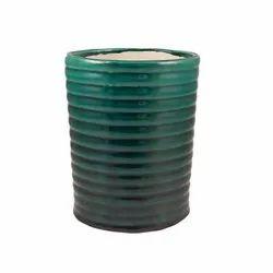 Blue Spiral Ceramic Flower Pot, For Indoor And Outdoor Plants