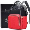 R For Rabbit Caramello Diaper Bag Backpack Waterproof Mother Bag For Travel With Baby (red Black)