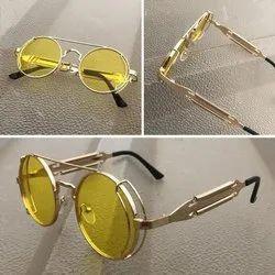 Polycarbonate Casual Wear Unisex Round Designer Sunglasses
