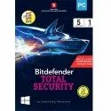 Bitdefender Multidevice Total Security 5pc 1year, For Windows