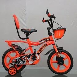 Orange And Black MS Racer Child Bicycle, Size: 14 Inch