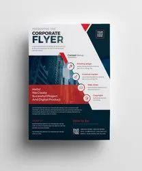 Multicolor Corporate Flyers Printing Service, Location: Chennai