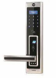 Lever Rfid Yale Fingerprint Digital Door Lock YDME-90 (SC), Stainless Steel, Biometric