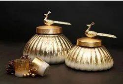 Silver Home Decor Glass Item, Size/Dimension: 500ML