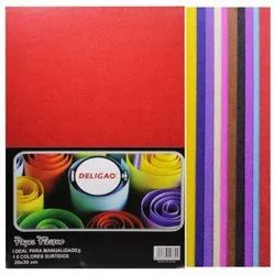 Multicolor Nonwoven Felt Sheet For Sewing (Size: A4)(Pack Contain 10), For Sewing, Patchwork, 10 Sheets