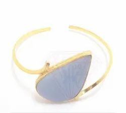 Adjustable Gold Bangle, Gemstone Jewellery
