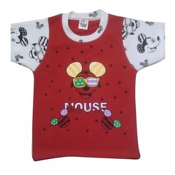 Casual Wear Half Sleeves Nannuins Kids Round Neck Printed T-Shirt