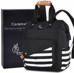 R For Rabbit Caramello Delight Diaper Bag For Mother Waterproof Maternity Bag (Black)