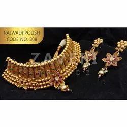 808 Rajwadi Polish Choker Sets