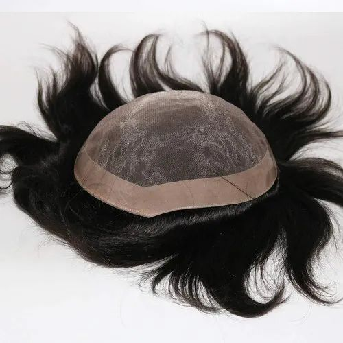 Black 100 Soft Silky And Human Hair Fine Monofilament Wig For Mens And Boys For Personal Rs 3500 Piece Id 22590101733