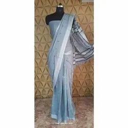 Printed Ladies Formal Wear Saree, Handwash, 5.5 m (separate blouse piece)